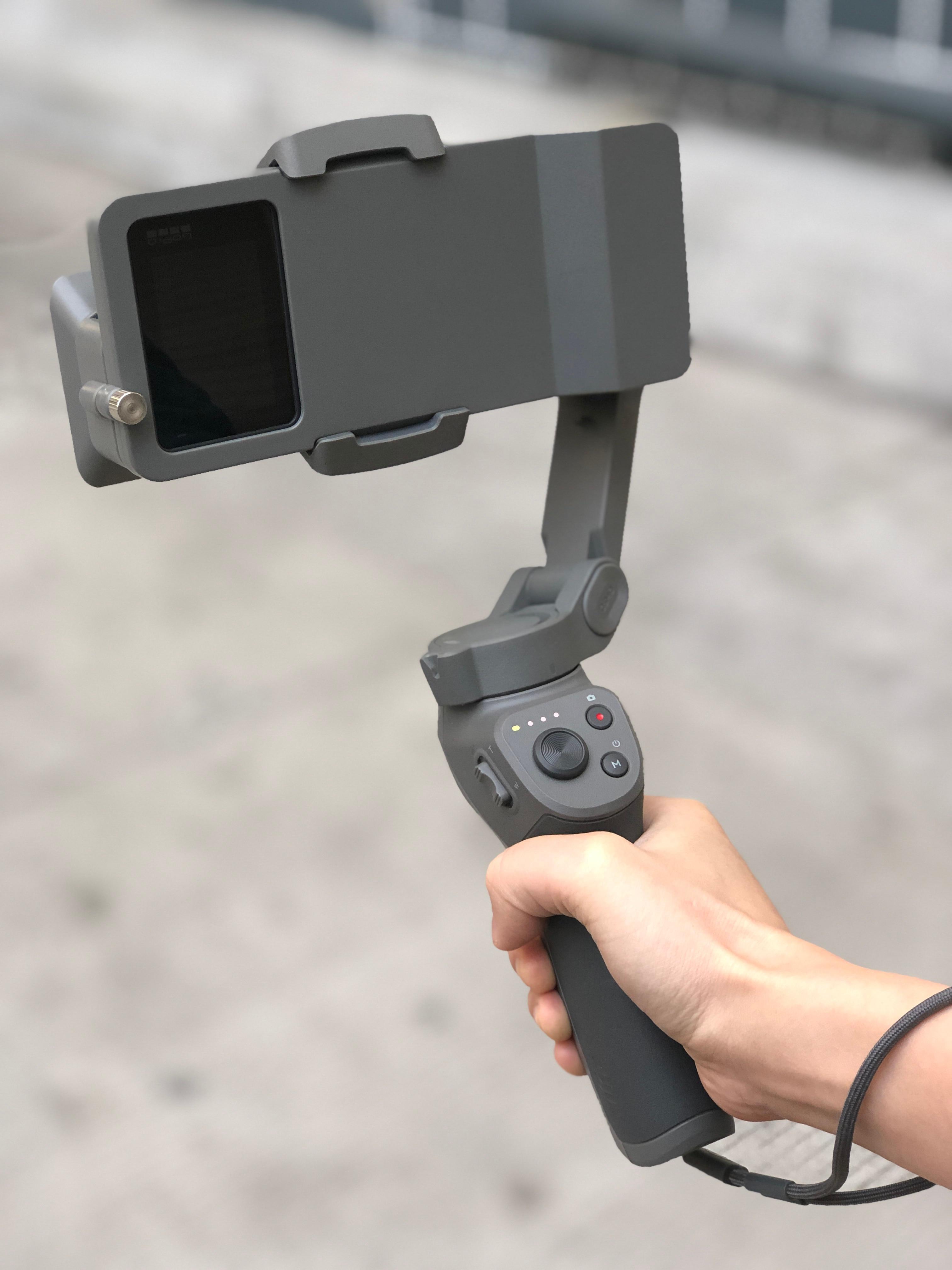 Zaktualizowana wersja kardana ręczna przejściówka do dji osmo mobile 3 do GoPro Hero 7 6 5 czarna kamera przełącz Adapter płyty