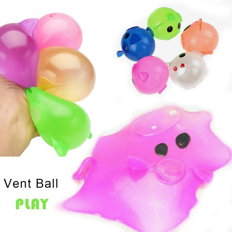 Vent-Toy Fidget Jello Pig Water-Pig-Ball Squishy Antistress Splat Sticky-Pig Relief Funny Gift img3