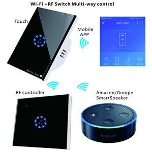 "Image 5 - Tuya ארה""ב/האיחוד האירופי/AU סטנדרטי מגע מתג חכם מתג אור פנל קיר interruptor 1/2/3 כנופיית wifi קול לעבוד עם Alexa Google בית"