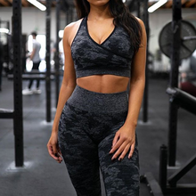 Women's Yoga Suit Sportswear Fitness Sport For Women Gym Running Set 2 Piece Costume For Seamless Yoga Sports Bras+Leggings Sets outdoor sports three piece set women yoga sets for gym running jacket