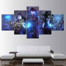5 Piece Path of Exile Game Poster Fantasy Art Wall Paintings Skull Dark Style Horror Pictures Canvas for Home Decor Artworks