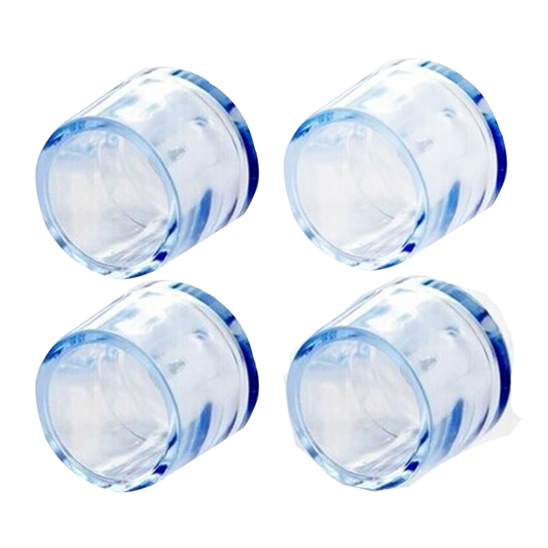 EASY-4Pcs Transparent Rubber Furniture Table Chair Leg Floor Feet Cap Cover Protector 15mm,24mm, 21mm, 18mm,