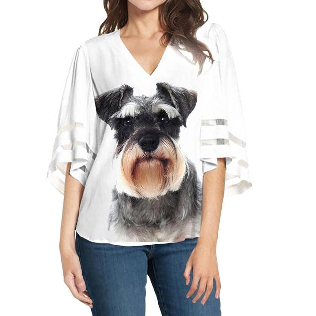 Casual Loose Dog Printed Blouse