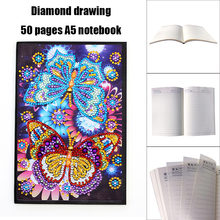 Butterfly Diamond Painting Cover Notebook Diary Writing Notes and Plan, A5 DIY 50 Page Dia