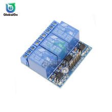 5mA 3.3V 5V 3 Channel Relay Module With Optocoupler Isolatio