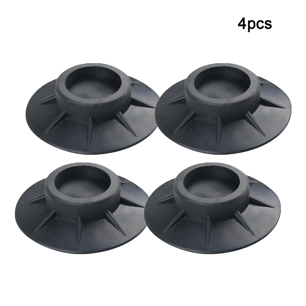 4Pcs Mat Protectors Anti Vibration Black Washing Machine Rubber Shock Proof Universal Feet Pads Elasticity Non Slip Accessories