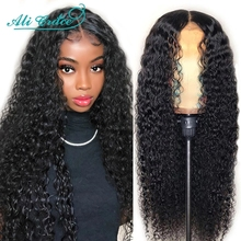 Ali Grace Wigs Brazilian Kinky Curly Human Hair Wigs Pre Plucked 360 Lace Frontal Wigs Remy Hair Deep Curly Lace Front Wig