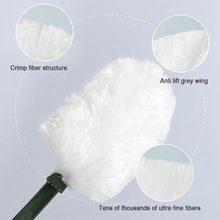 Pó eletrostático descartável do espanador à prova de poeira da remoção da poeira da absorção escova da fibra do agregado familiar poeira que varre a limpeza