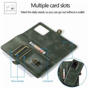 Image 4 - Detachable Flip Leather Wallet Case For Samsung Galaxy S8 S9 S10 E S20 Ultra Note 8 9 10 Plus A10 A20 A30 A40 A50 s A70 A51 A71