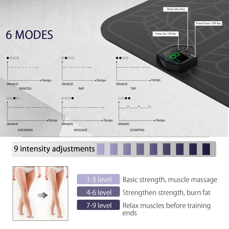 Electrique EMS masseur de pieds vibrant