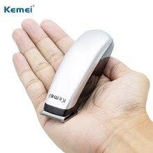 Kemei-Mini Afeitadora eléctrica portátil para hombre, maquinilla de afeitar Máquina para cortar cabello Barba, 3 peines