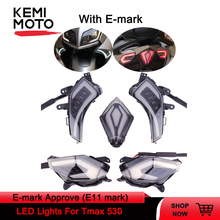 Signal Light With E-mark For YAMAHA Tmax 530  TMAX530 T-Max 530 2012 2014 -2016 Rear Tail Brake Light LED Turn Signal Taillight arashi for bmw r1200gs 2004 2007 e mark brake turn signal tail light rear tail light led light r 1200gs r1200 gs 2007 2006 2005