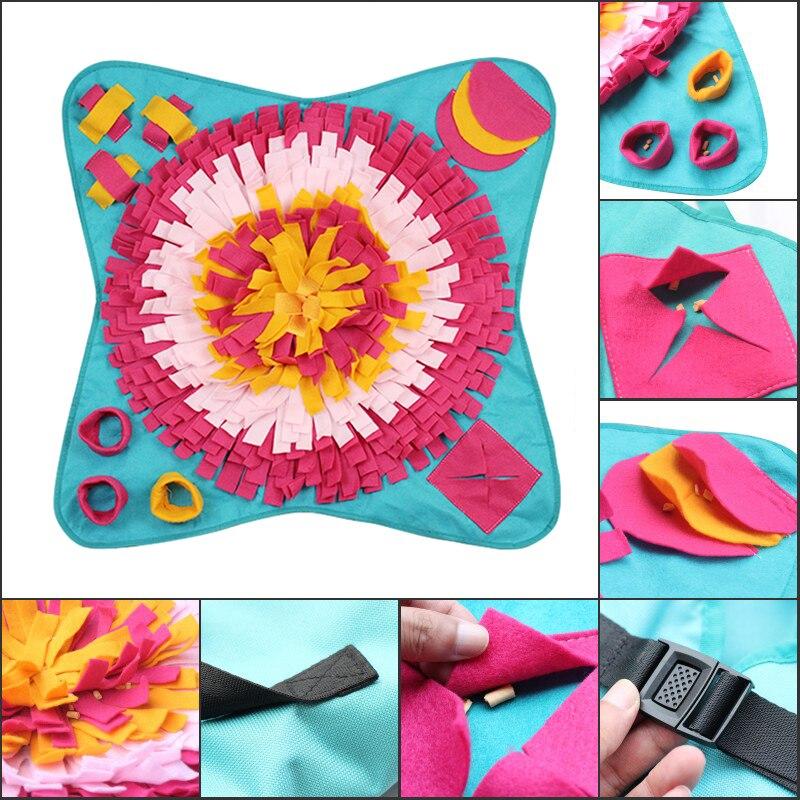 Créatif fleur Bouquet forme animal de compagnie chien nez travail tapis Sniff tampons à la main chien chat tapis IQ formation jouer alimentation tapis couverture jouets