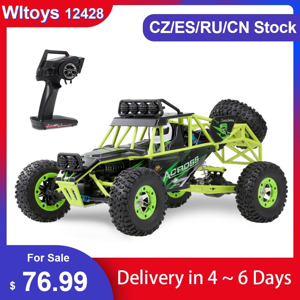 Wltoys 12428 1/12 RC Car 2,4G 4WD Электрический гоночный гусеничный RTR 50 км/ч высокоскоростной Радиоуправляемый внедорожный автомобиль с дистанционным у...