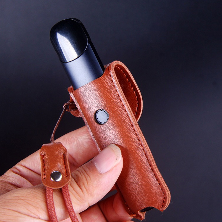 Leather Case For Relx Alpha Vape Pod Portable Protect Full Cover Skin With Lanyard Vape Accessories