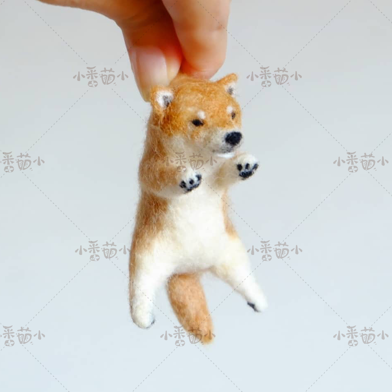 Unfinished DIY Wool Felt Poked Pick Up Shiba Inu Cat Sea Lion Animal Dolls Handmade Craft Creative Gift Toy Material Package Set