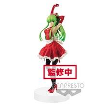 Tronzo Original Banpresto EXQ Abbildung Code Geass Lelouch der Rebellion C.C. Santa Kleid PVC Action figur Spielzeug Für Weihnachten