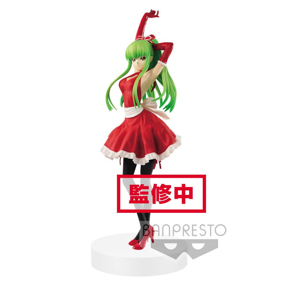 Tronzo Orijinal Banpresto EXQ Şekil Kodu Geass rebelion En Isyan C.C. Santa Elbise PVC aksiyon figürü oyuncakları Noel Için