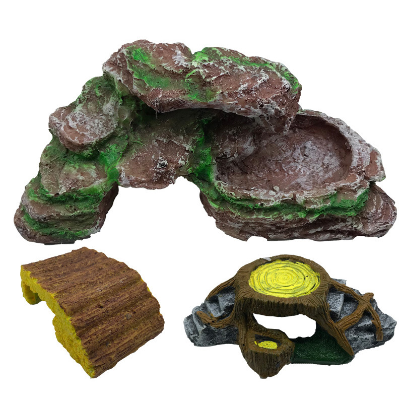 Decorative Aquarium Tools Tortoise Ladder Fish Tank Basking Aquatic Reptile Platform Water Rock Climb Turtle Amphibians