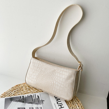 Crocodile Pattern Small PU Leather Handbags For Women 2020 Elegant Shoulder Bag Female Travel Hand Bag Cute Purple