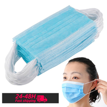 Disposable Face Mouth Mask 3 layer Filter Meltblown Cloth Mask Anti Dust Safety Mask Breathable Desposable Masks 50pcs 100pcs