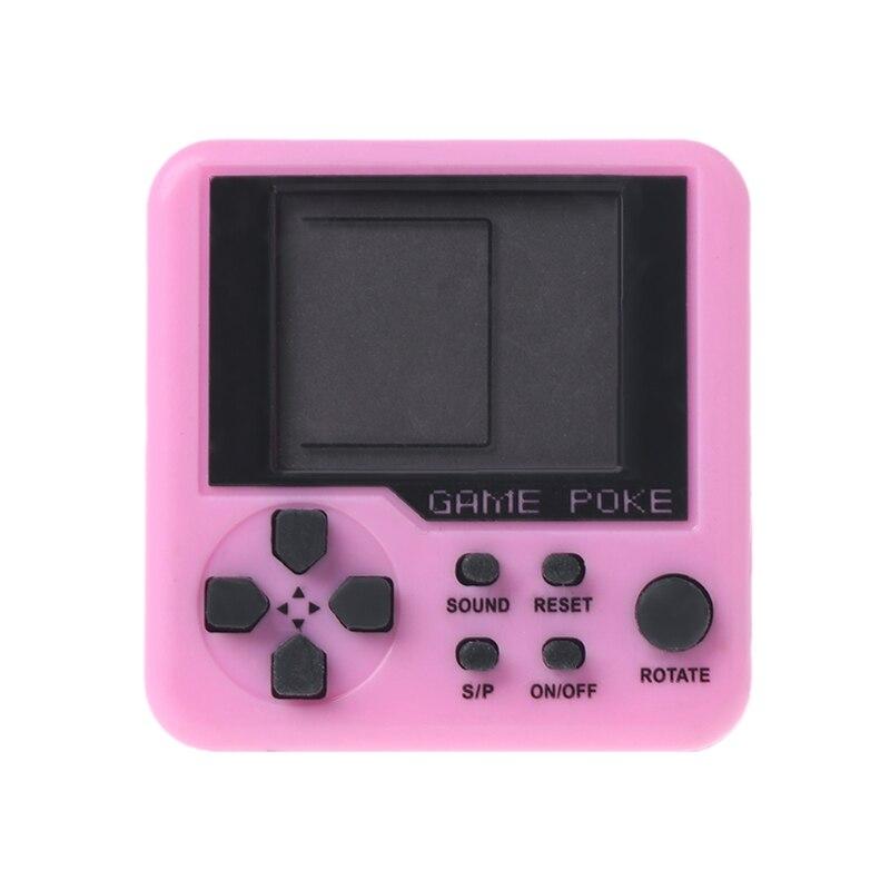Hand Held Mini Tetris Game Machine Electronic Toys Brick Toys Educational Game E65D