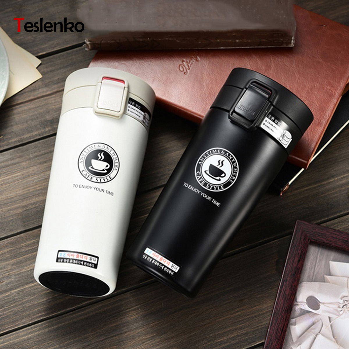 Double paroi en acier inoxydable Isotherme flacons bouteille thermos voyage tasses 380 ml