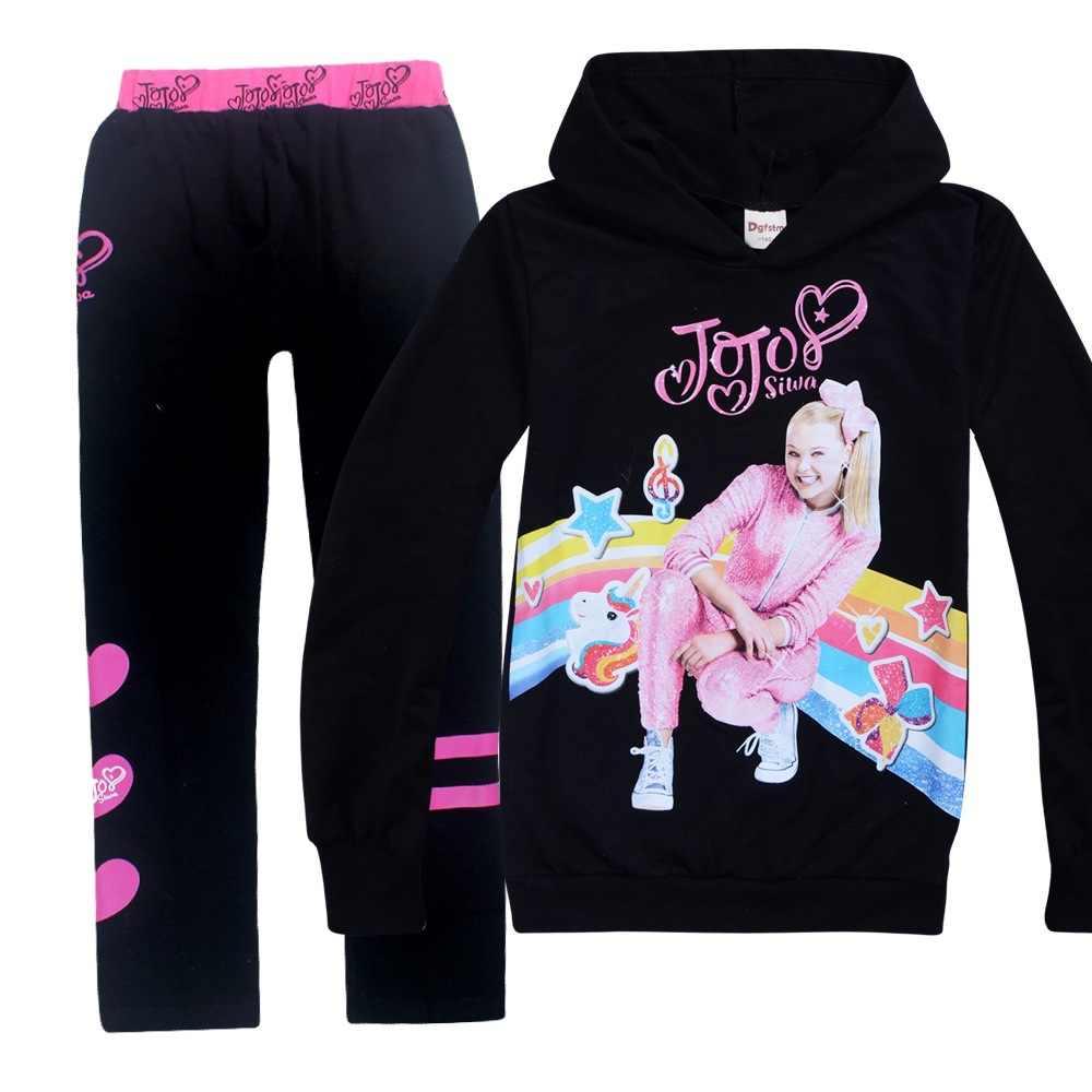Boys Kids Girls Hooded Hoodies Sweatshirt Top+Trousers Set 2PCS Tracksuit 3-14