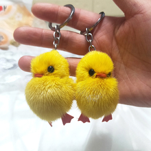 цена на Ant Plush Keychain Lot Plush Keychain Keychain Cute Cartoon Small yellow duck pendant plush bag mobile phone ornaments duckling