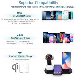 Image 3 - Fdgao 10 w qi rápido carregador sem fio 6 em 1 estação doca de carregamento para apple watch 5 4 3 airpods pro suporte para iphone 11 xs xr x 8