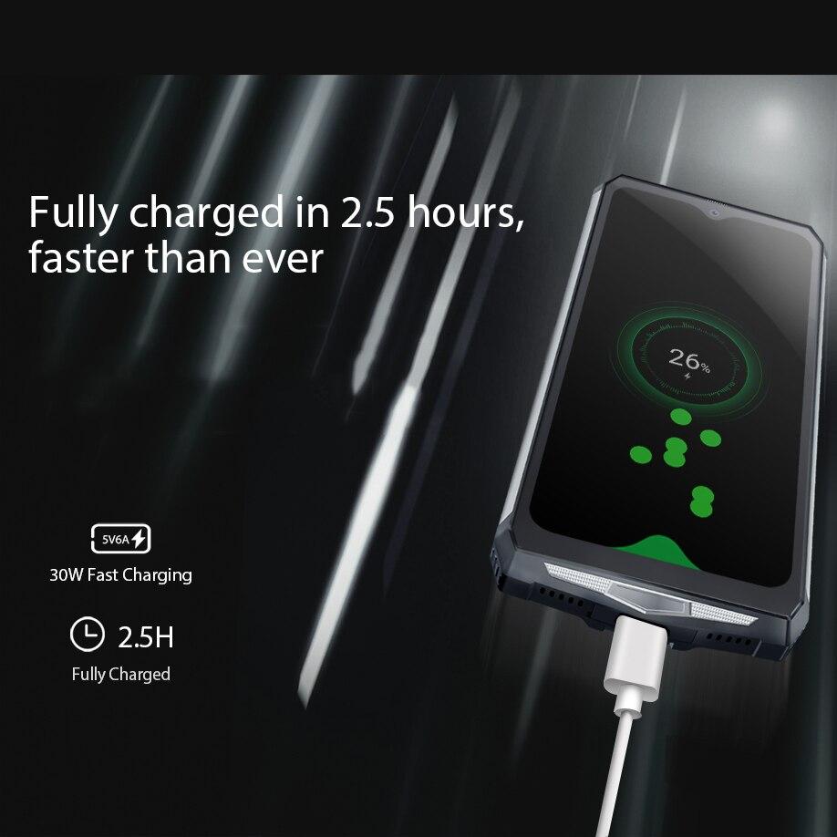 Image 3 - البلاكفيو BV9100 6.3 بوصة الهاتف المحمول IP68 مقاوم للماء وعرة الهاتف المحمول 4GB 64GB ثماني النواة أندرويد 9.0 الهاتف الذكي 12000mAH NFCالهواتف المحمولة   -