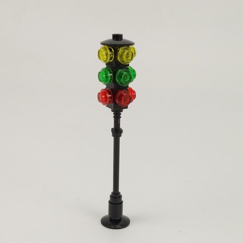 Kilitleme şehir rakamlar trafik ışıkları modelleri blokları bina ve inşaat MOC arkadaşlar oyuncaklar çocuklar için uyumlu Lockings şehir