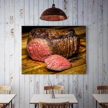 60x90cm Home Background Roast Beef Theme Restaurant Kitchen Dining Hall Wall Decor Painting