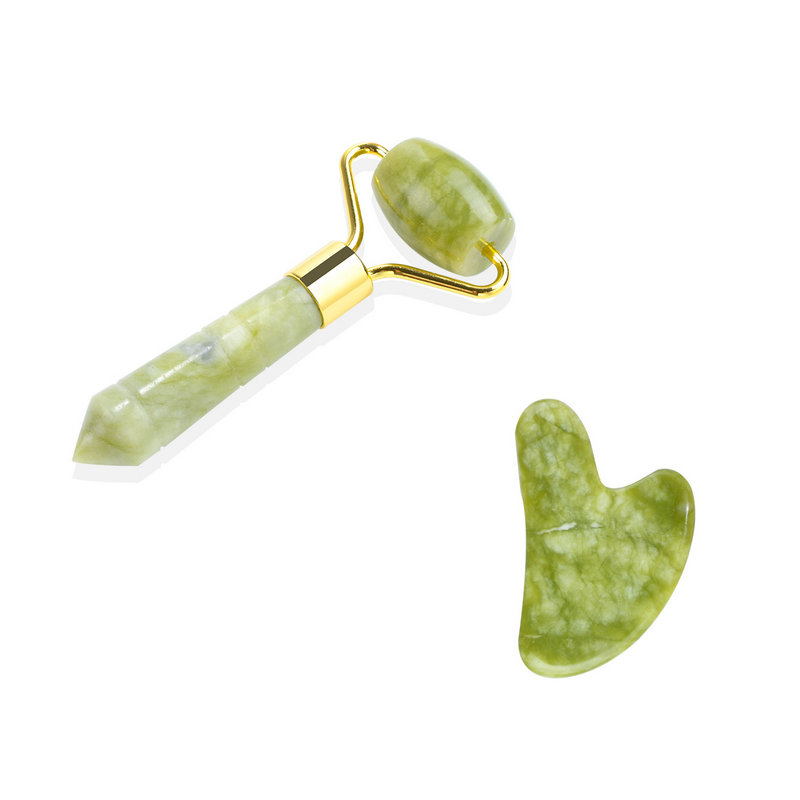 LIZY Facial Massage Jade Roller Double Heads One Head Jade Stone Face Lift Hand Body Skin Relaxation Slimming Beauty Health Care 5