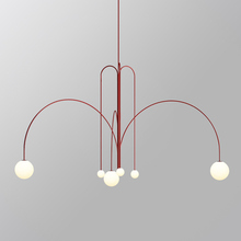 Nordic minimalist LED Chandelier living room Novelty Iron Hanging lighting fixture creative cafe Dining room Pendant lamp cheap LOMYE Painted Parlor Study Master Bedroom other bedrooms Hotel Room Pipe Erected Pendant Lights 3 years Metal 15-30square meters