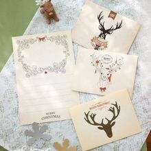 Креативный олень поздравительная бумажная карта Лучшие пожелания