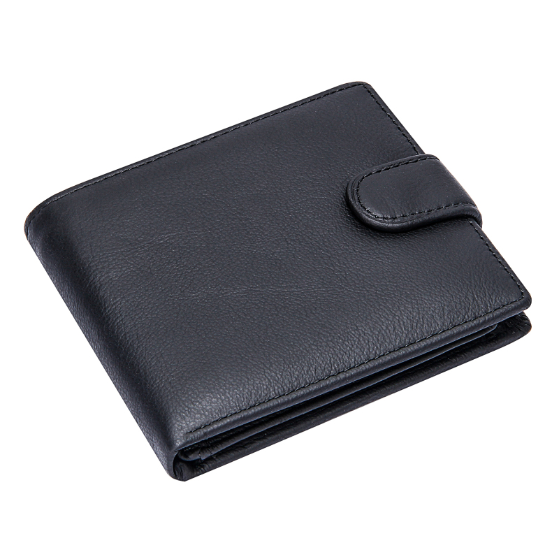Men's Leather Wallet Luxury Purse Genuine Leather Business Man Credit Card Holders Bifold Hasp Short Wallets Male Money Bags
