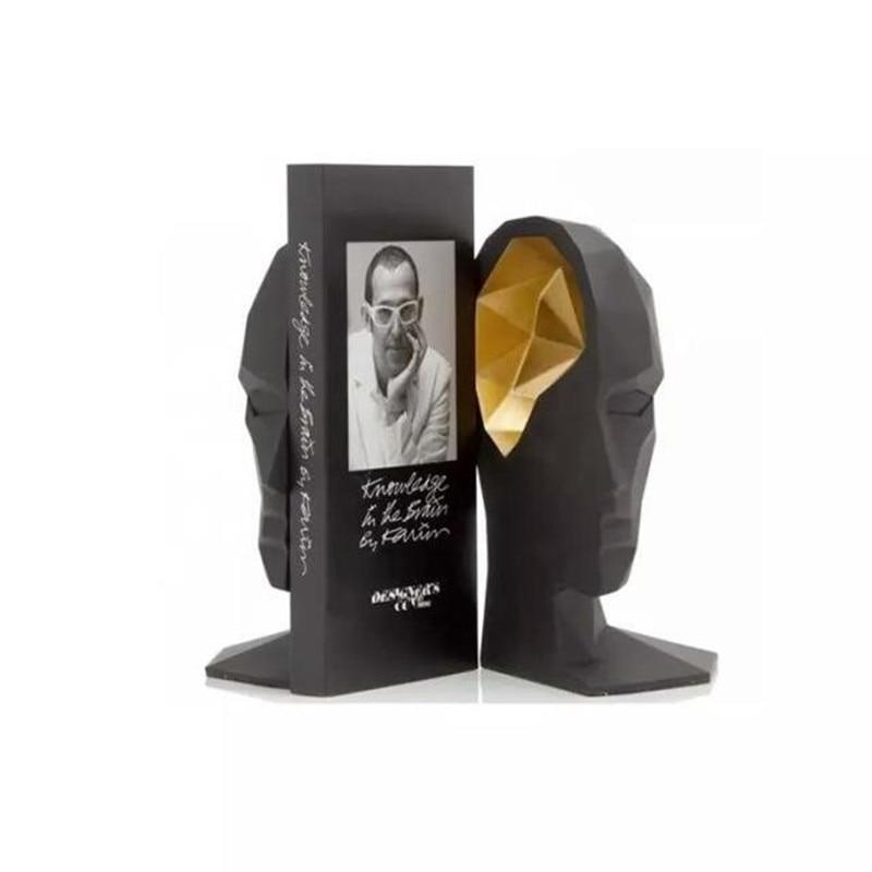 أنيقة الأوروبية دراسة عالية الجودة مكتب زينة الراتنج الحرف الإنسان الوجه الدماغ الدفتين أفضل هدية ، شحن مجاني-في التماثيل والمنمنمات من المنزل والحديقة على  مجموعة 3