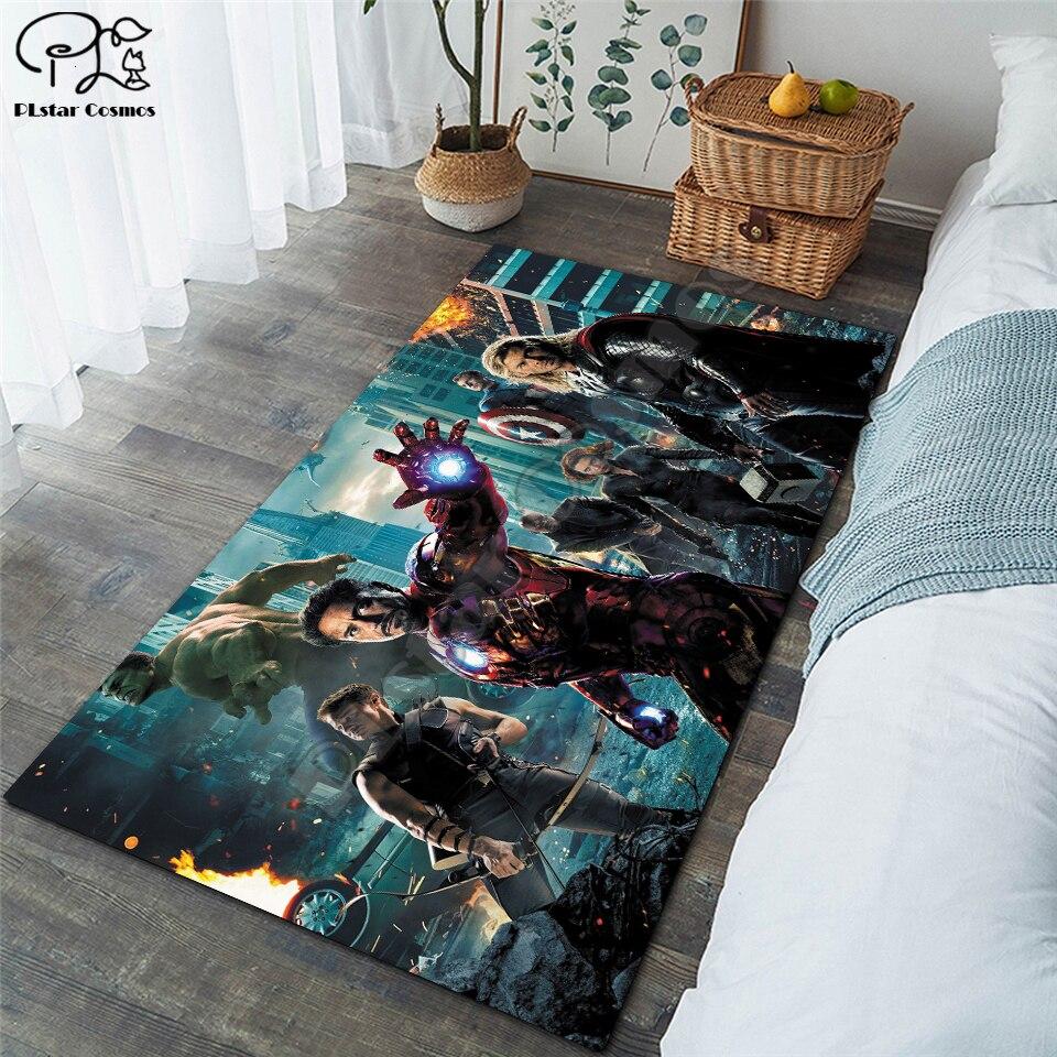 New Superman/Batman/US Captain/The Avenger Carpets Soft Flannel 3D Printed Rugs Mat Rugs Anti-slip Large Rug Carpet-13