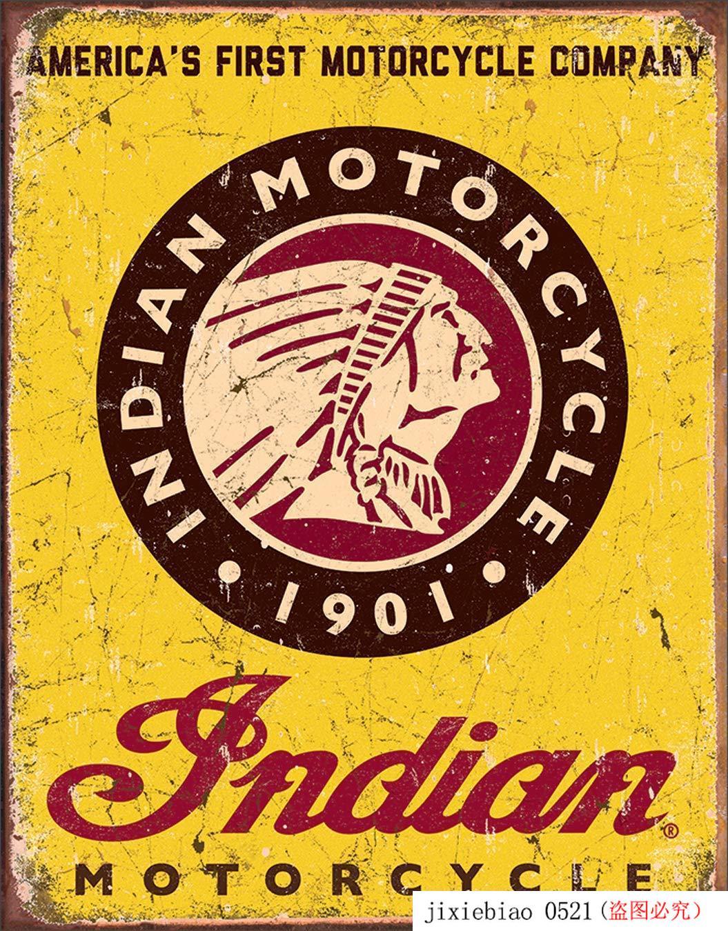 """Empresas desesperadas motocicleta indiana desde 1901 estanho sinal, 12.5 """"w x 16"""" h"""