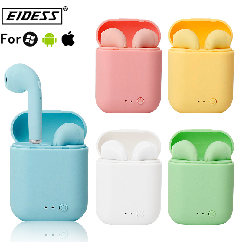 i7Mini TWS Wireless Earphones 5.0 Earphone Matte Earbuds Charging Box Headset Headphones for xiaomi iphone Bluetooth phone