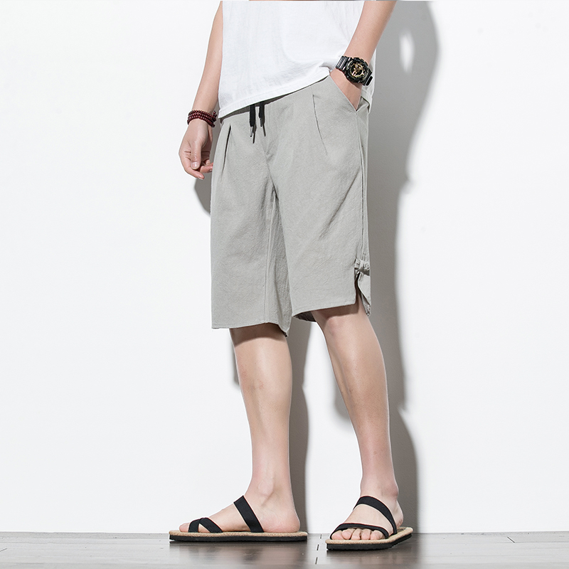 Cotton Linen Shorts Men Summer Fashion Shorts New Male Bermuda Casual Board Short Pants Man Big Size Chinese Style Harajuku
