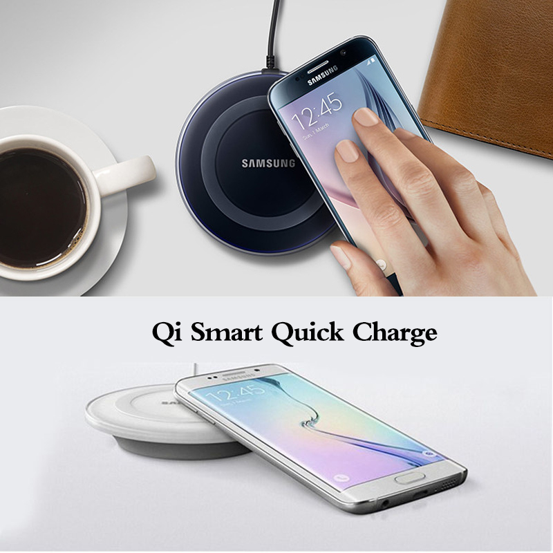 Оригинальное Беспроводное зарядное устройство Samsung адаптер qi зарядная площадка для Galaxy S7 S6 EDGE S8 S9 S10 Plus Note 4 5 для Iphone 8 X XS XR mi 9-4
