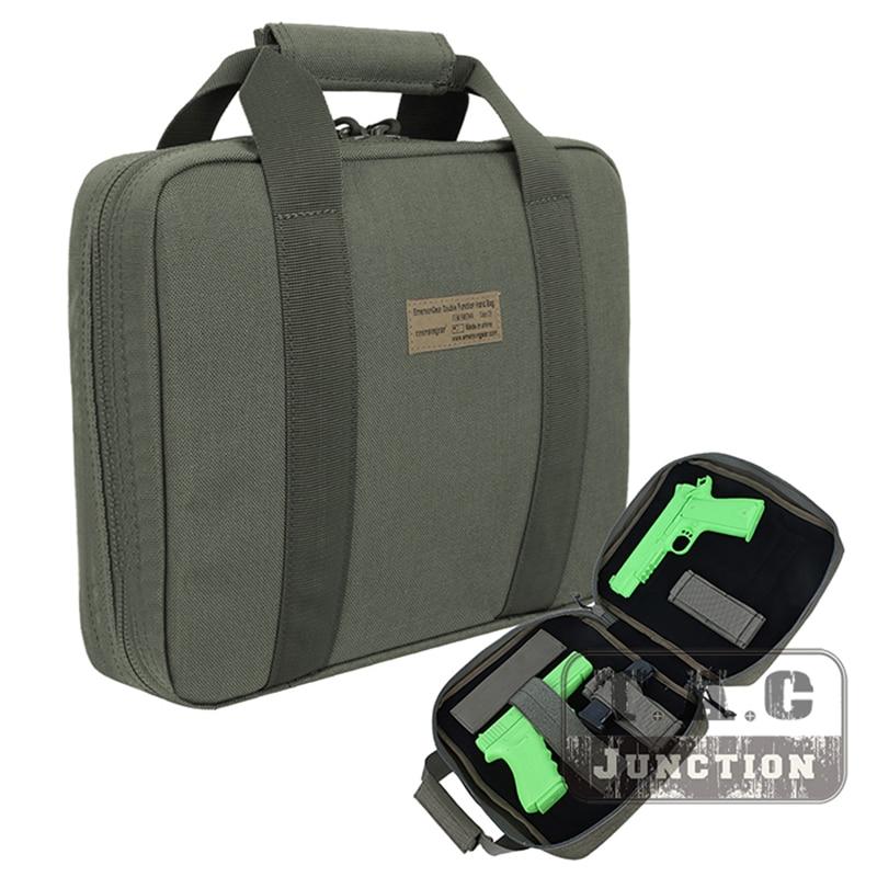 Case de Proteção Emerson Pistola Tático Seguro Titular Revista Emersongear Dois Arma Mão Macio Coldre Proteção Bolsa Transporte