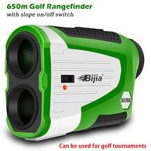 Bijia golf rangefinder laser medidor de distância 700y range finder bandeira bloqueio clope correção e interruptor de ligar/desligar bateria recarregável