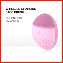 BLINGBELLE High Quality Face Cleansing Brush Wireless Charging Silicone 5 Gear Ultrasonic Vibration Recharegable Acne Remover