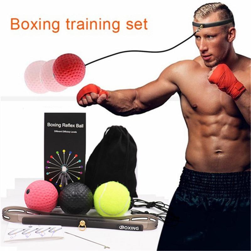 Fight Reaction Ball Boxing Punching Bag Head-mounted Reflex Speed Sanda Raising Force Muay Thai SportTraining Exercise Equipment