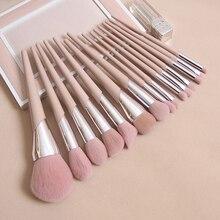 Moda güzellik kozmetik fırçalar çıplak pembe FB pudra allık vurgulayıcı fırça göz farı karıştırma burun kaş dudak makyaj fırçalar