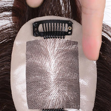 Salonchat Synthetic Toupee Hairpiece Clip In One Piece Straight Topper Hair with Bangs Clip In Hair Extensions for Women Black(China)