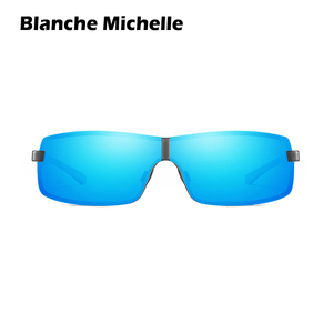 Image 2 - BM Aluminum Frame Polarized Sunglasses Men UV400 Brand Designer Driving Sun Glasses Male Goggle Mirror vintage oculos masculino